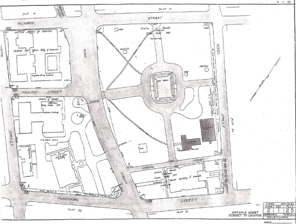 Iolani Palace deed map