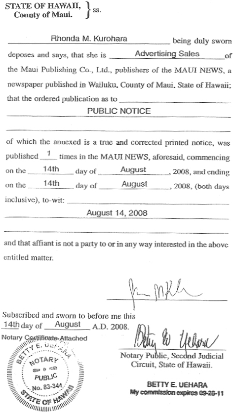 Affidavit of claim affidavit of publication altavistaventures