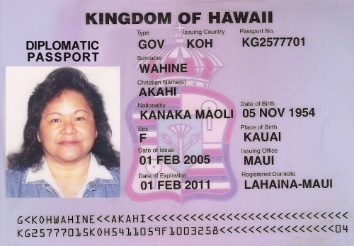 Visa and Diplomatic Passports - Kaahanui Kamalani