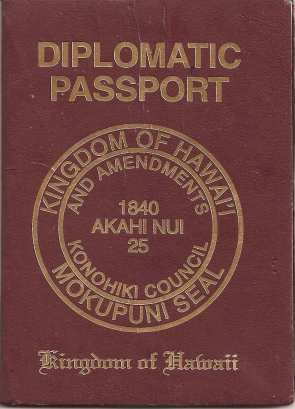 Visa and Diplomatic Passport Cover - Akahi Nui