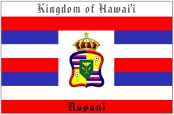 Kindom of Hawaii Government Flag