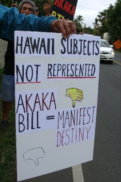 Ku`e against Akaka Bill in Kailua 5