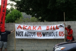 Ku`e against Akaka Bill in Kailua 7